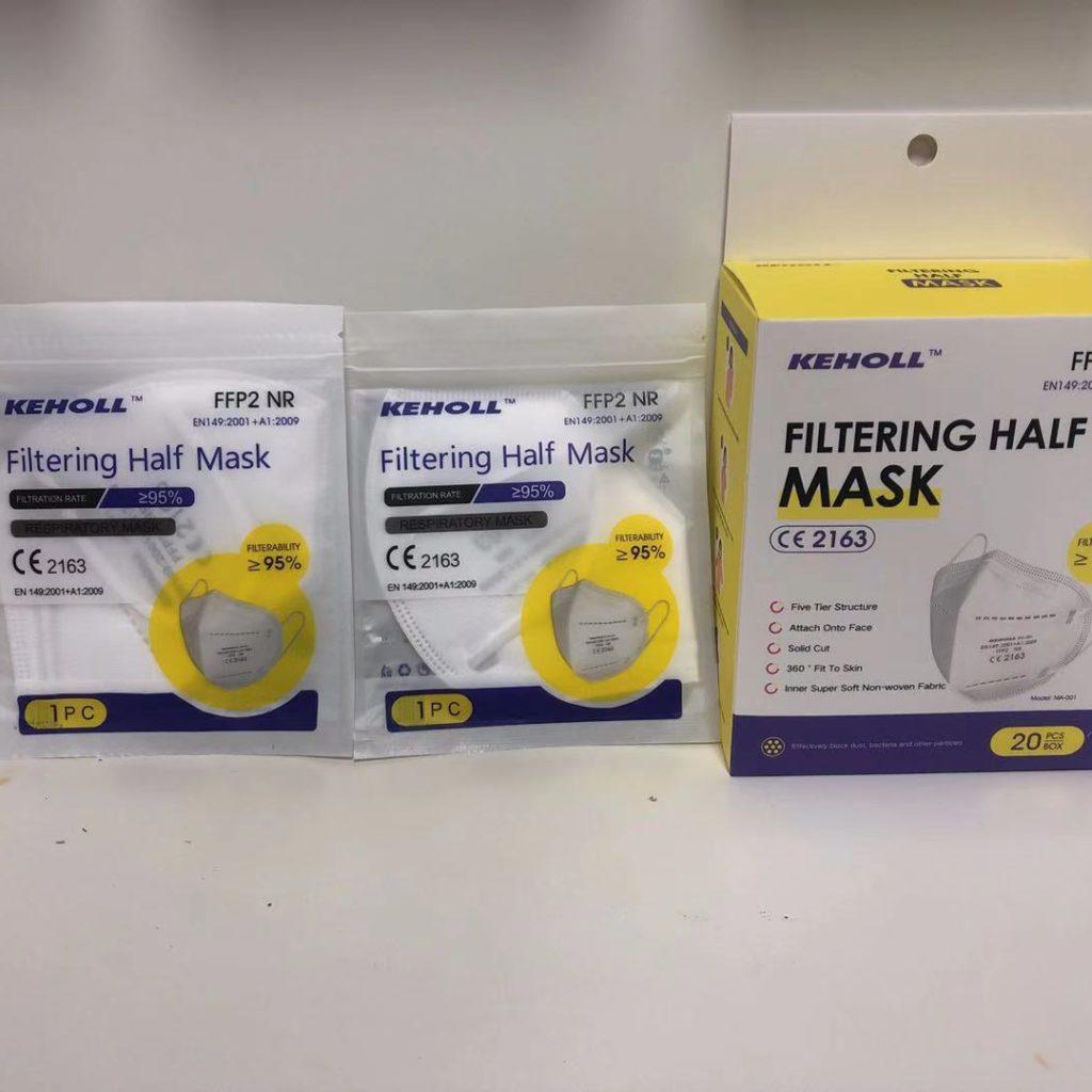 Covid Schutzausrüstung FFP2 Atemschutzmasken Covid Rescue FFP2 KN95 Masks Keholl