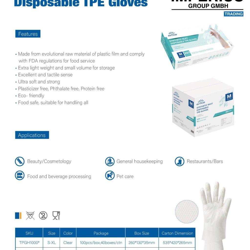 INTCO Medical Venyl Schutzhandschuhe - Venyl Gloves - Imperius Group GmbH