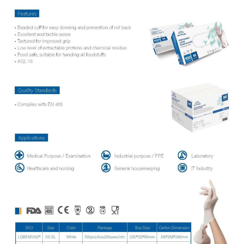 INTCO Medical - Latex Schutzhandschuhe - Latex Gloves - Imperius Group GmbH